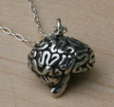 3D Brain Necklace by Anatomology on Etsy, $21.00