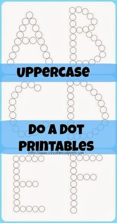 School Time Snippets: Uppercase Do A Dot Printables {Freebie} Preschool Literacy, Preschool Letters, Learning Letters, In Kindergarten, Free Preschool, Preschool Printables, Free Printables, Alphabet Crafts, Letter A Crafts