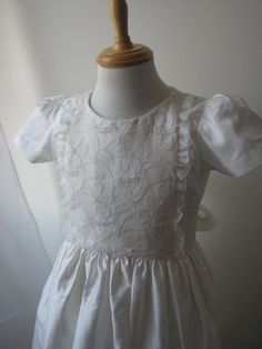 beautiful heirloom collections Silk communion dress hand embroidered by MaryPeterDesigns on Etsy Girls Dresses, Flower Girl Dresses, First Communion Dresses, Christening Gowns, Special Occasion Dresses, Kids Outfits, Silk, Trending Outfits, Wedding Dresses