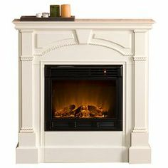 Paneled Electric Fireplace With An Adjustable Flame