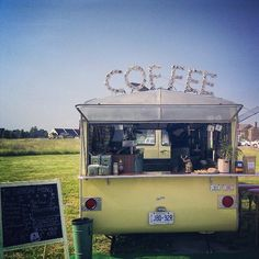 Quirky and Affordable Vintage Caravans to Spend the Night Coffee Carts, Coffee Truck, Retro Caravan, Camper Caravan, Mobile Coffee Shop, Coffee Trailer, Vintage Caravans, Vintage Campers, Vintage Trailers