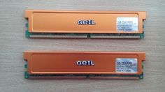 Pamięć GEIL 2GB (2x1gb) DDR2-800 PC2 6400 Polecam.