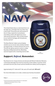 US Navy warmer! I love mine! Gotta love Scentsy and my Sailor!!