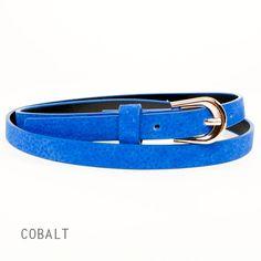 Skinny Belt - Cobalt