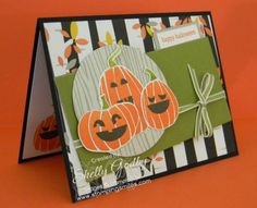 Stampin' Up! Fall Fest Halloween Stamping Smiles.  The Stampin' Up! Fall Fest Stamp Set from the 2014 Stampin' Up! Holiday Catalog is perfect for adorable handmade Halloween greeting cards.  Order Fall Fest in my online store www.shopwithshelly.com!