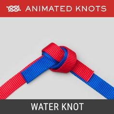 Water Knot - Joins two pieces of webbing strapping Quick Release Knot, Splicing Rope, Animated Knots, Sailing Knots, Survival Knots, Knots Guide, Overhand Knot, Rope Knots, How To Make Rope