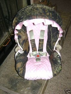 Daddys Little Girl Mossy Oak Camouflage Graco Snugrider Infant Car Seat Cover