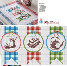 Mutfağa girince, kısa sürede çıkamayız bir türlü :) Designed and stitched by Filiz Türkocağı...