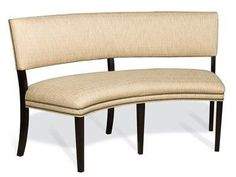 The Newton Curved Banquette has tall legs that give it a light and contemporary look and feel  The ample seat provides comfort and the open styling creates an look that's perfect for any decor. Perfect seating for a round table.