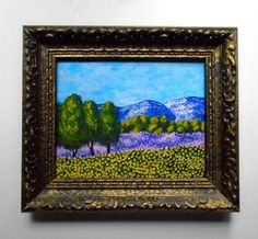 Sunflowers and Lavender In Provence ORIGINAL by MikeKrausArt