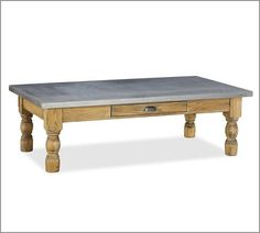 Maddox Zinc-Topped Coffee Table | Pottery Barn