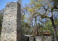 Old Sugar Mill Ruins in Homosassa, Florida. Wales through hete so many times!