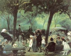 The Drive Central Park 1905 - William James Glackens - (American : 1870-1938)