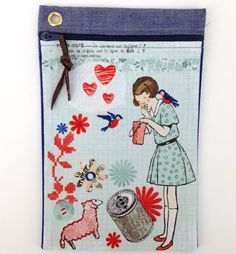 Valentine Gifts Sewing Bee Gal 1930's  by didyoumakeityourself
