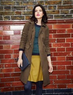 I've spotted this Military Moleskin Coat looks much better in other shots on Boden site. As shown here looks unflattering. Coats For Women, Clothes For Women, Cute Coats, Autumn Winter Fashion, Fall Fashion, Fashion Ideas, Modest Outfits, Get Dressed, Timeless Fashion