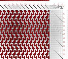 Figure 1312, A Handbook of Weaves by G. H. Oelsner, 4S, 12T - Handweaving.net Hand Weaving and Draft Archive