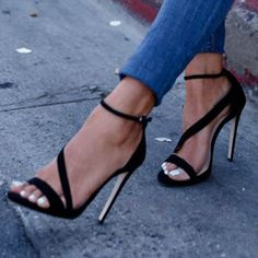 Buy Concise Open Toe Stiletto High Heels Sandals  Online, Dresswe.Com offer high quality fashion,Price: USD$70.28