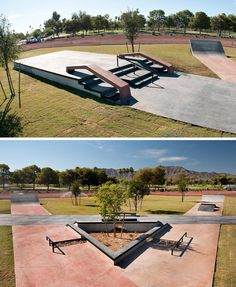 Cesar Chavez Skate Plaza features obstacles donated from the 2010 SLS stop in Glendale Arizona. It was designed by @CAskateparks with influences & inspirations from the Arizona environment. #SLSF  Check it out if you are in the Arizona area:  #CesarChavezSkatepark 7858 South 35th Avenue Phoenix Arizona by sls