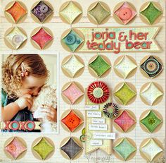 Scrapbook LO featuring circles