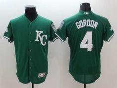 Kansas City Royals #4 Alex Gordon Green Celtic Flexbase Authentic Collection Stitched MLB Jersey