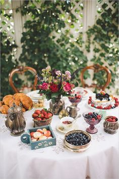 Fabulous Breakfast and Brunch Wedding Ideas for the Early Birds - wedding dessert table idea; Kelsea Holder Photography