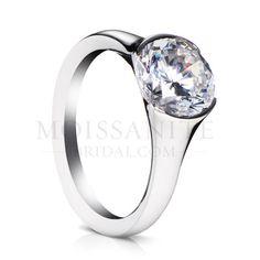 Check out the deal on sholdt vashon half-bezel forever brilliant moissanite solitaire ring at MoissaniteBridal.com