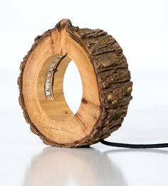 Reclaimed Log Circle Light | Whether lit up on a desk or just sittin' pretty during the day... | Lamps