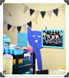Classroom Reveal 2014 {Meet the Teacher FREEBIE} - First Grade Blue Skies