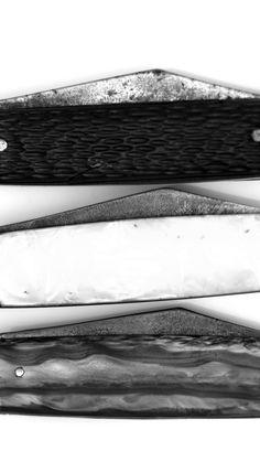 Trio of Equal end Vintage Jack Knives 8 Pocket, Knife, Vintage, antique, Bade, scales, handle, picker, flea-market, garage sale, knives, old, rusty, dirty, dirt and rust, sharp, steel, carbon, knife porn, cutlery