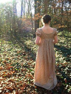 Daydreams   Cotton Regency Dress Jane Austen by GabbyMarieBoutique, $100.00