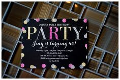 Coordinate your invitations with your party colors to set the mood before your guests arrive.