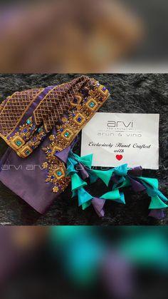 Brocade Blouse Designs, Saree Blouse Patterns, Bridal Blouse Designs, Blouse Neck Designs, Hand Work Blouse Design, Stylish Blouse Design, Indian Embroidery, Aari Embroidery, Embroidery Flowers Pattern