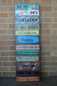 You Are My Sunshine Wooden Distressed Wall Art 45 00 Via Etsy Walls