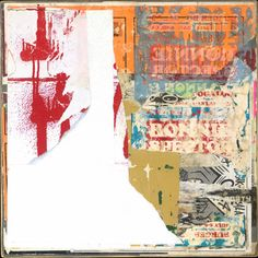 Burger and Fries by Michael Cutlip mixed media collage  2014-2015