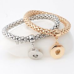 Chunk Button Bracelet, Zinc Alloy, plated, for woman, more colors for choice, lead & cadmium free, 18mm, Inner Diameter:Approx 6mm,china wholesale jewelry beads