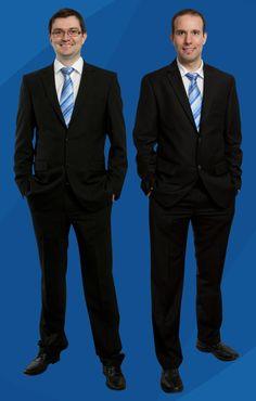 Die Geschäftführer der BellEquip GmbH: Martin Hinterlehner und DI(FH)  Günther Lugauer Suit Jacket, Breast, Suits, Formal, Jackets, Fictional Characters, Style, Fashion, Preppy