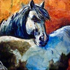 """""""BEST OF FRIENDS"""" The National Western Stock Show is winding down in Denver, but I still have horses on my mind. On this painting, I..."""