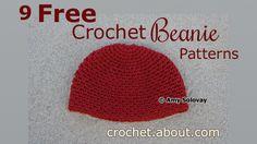 9 Free #Crochet Beanie Hat Patterns!