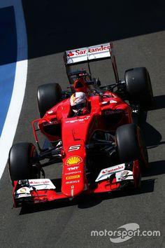 Sebastian Vettel, Ferrari SF15-T in action at Silverstone,Great Britian