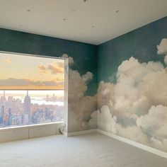 """Rebel Walls på Instagram: """"Some views are just too good to not be posted again. Who would you take here? 😍🌇☁️ @wallsnyccorp @jecraftsman"""" Nyc Skyline, Above The Clouds, You Take, Beautiful Interiors, Modern Rustic, Rebel, Kids Room, Room Wallpaper, Wallpaper Ideas"""