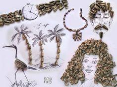 Victor Nunes, gli oggetti quotidiani diventano schizzi d'arte