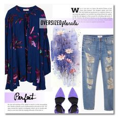 """~Oversized florals~"" by dolly-valkyrie ❤ liked on Polyvore featuring MANGO, Alexander Wang and oversizedflorals"