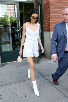 Kendall Jenner June 3, 2017. #kendalljenner #ootd #streestyle #celebrity #casual #dailylook #stuartweitzman #classy #heels from @stealkyliejennerstyle's closet