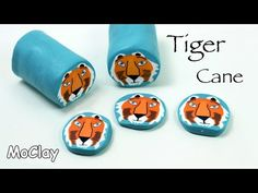 How to make a Tiger millefiori cane - Polymer clay tutorial - YouTube