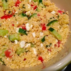 Lemon Couscous Salad - quick and refreshing side dish!