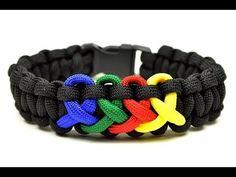 ▶ Make an Autism Awareness Paracord Bracelet - YouTube                                                                                                                                                                                 More