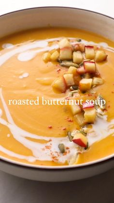 Vegetarian Soup, Vegan Soup, Butternut Squash Soup Healthy, Roast Fish, Earth Baby, Pumpkin Sauce, Hot And Sour Soup, Tasty Videos, Healthy Crockpot Recipes