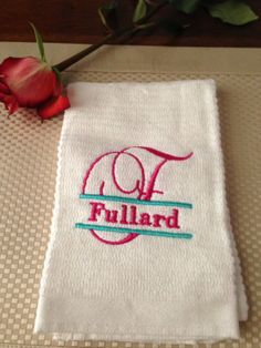 Personal Kitchen Towel by EmbroideryK on Etsy, $6.00