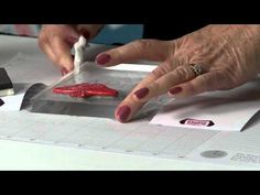 Tip of the Day: Stamping with Glue from The Rubber Café - Stamp & Scrapbook EXPO
