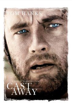 Cast Away Movie Poster - Tom Hanks, Helen Hunt  #CastAway, #MoviePoster, #Drama, #RobertZemeckis, #HelenHunt, #TomHanks